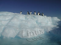 linux penguins on ice wallpaper tn