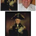 Digital Image Editing Manipulation Admiral Nelson Birthday Invite